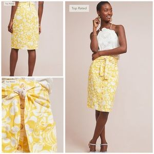 Anthropologie Button Front Pencil Skirt